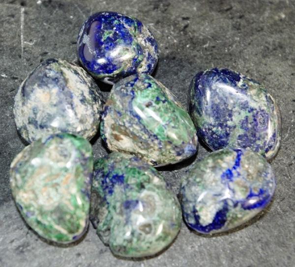 Azurite in Malacite
