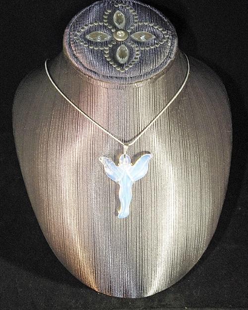 Opalite Angel Pendant