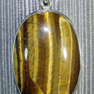 Tigers Eye Oval Pendant