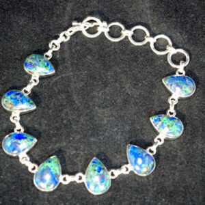 Azurite in Malachite Bracelet