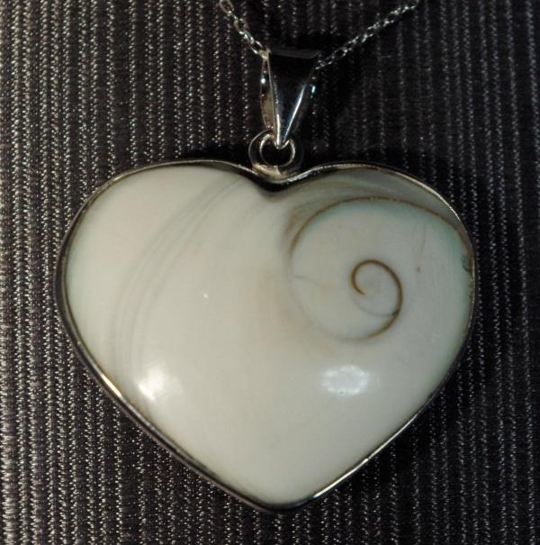 Shell Heart Pendant