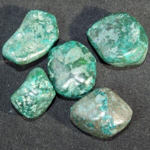 Dioptase Tumble Stones