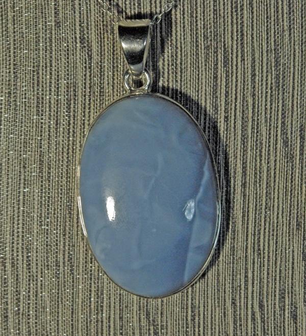 Owyhee Blue Opal Oval Pendant