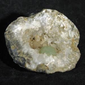 Brandberg Quartz Geode with Prehnite ball
