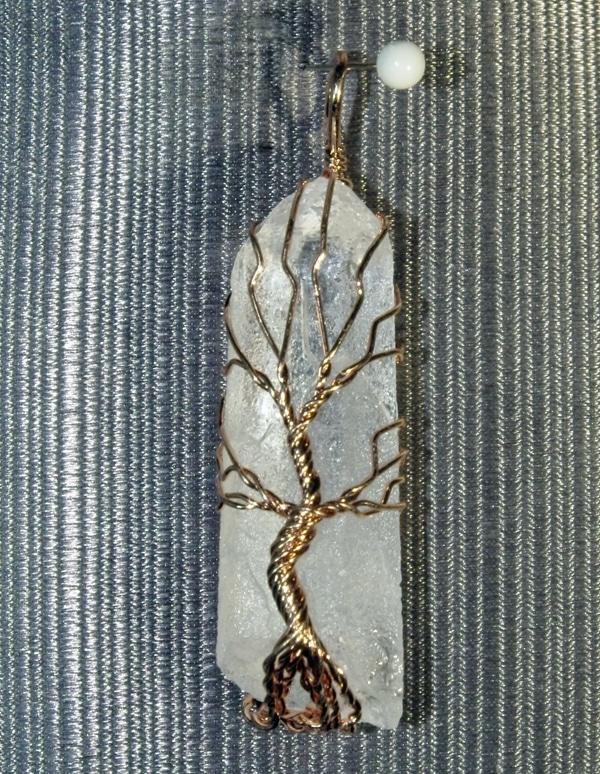 Tree of Life Wrapped Quartz Point