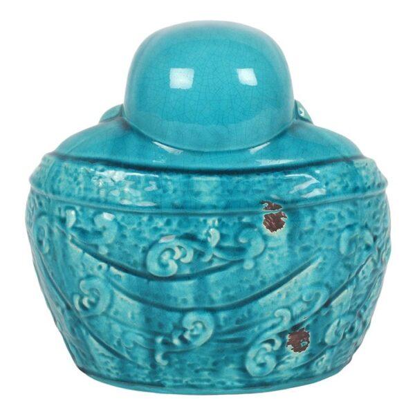 Ceramic Chinese Sitting Buddha-back