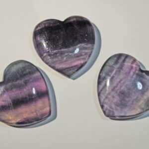 Rainbow Fluorite Hearts