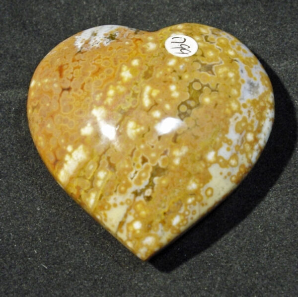 Ocean (Sea) Orbicular Jasper Heart
