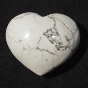 White Howlite Heart