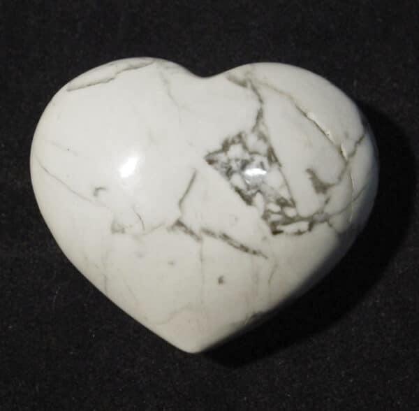 White Howlite Heart