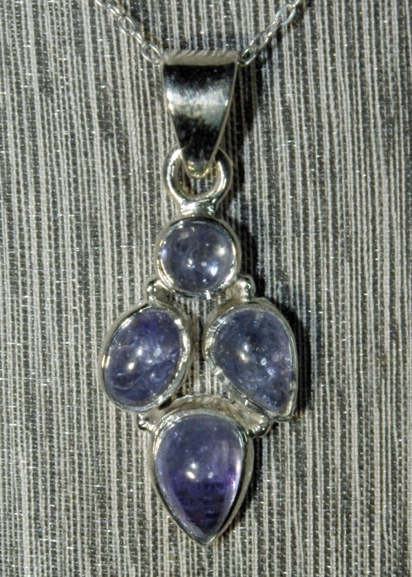Tanzanite Four Stone Pendant