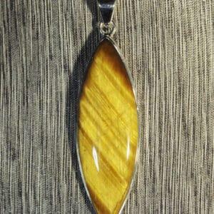 Golden Tiger's Eye Marquise Pendant