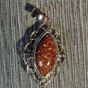 Goldstone Glass Pendant