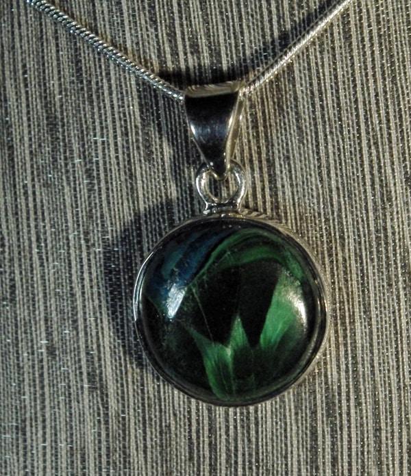 Azurite with Malachite Pendant