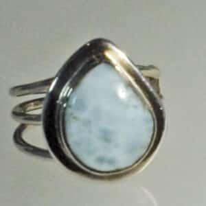 Larimar Teardrop Ring