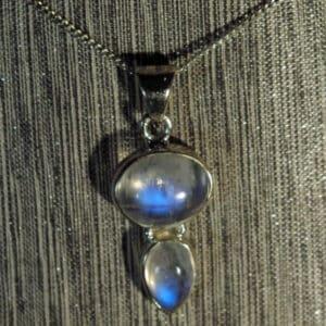 Moonstone Double Drop Pendant.