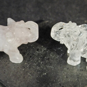 Rose Quartz Elephants