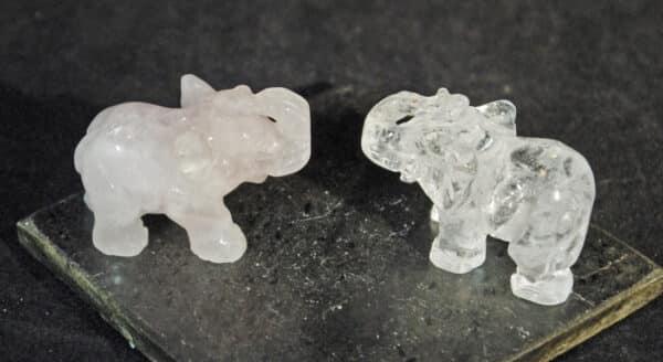 Rose Quartz Elephants