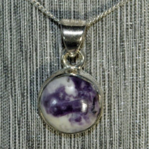 Tiffany Stone Round Pendant