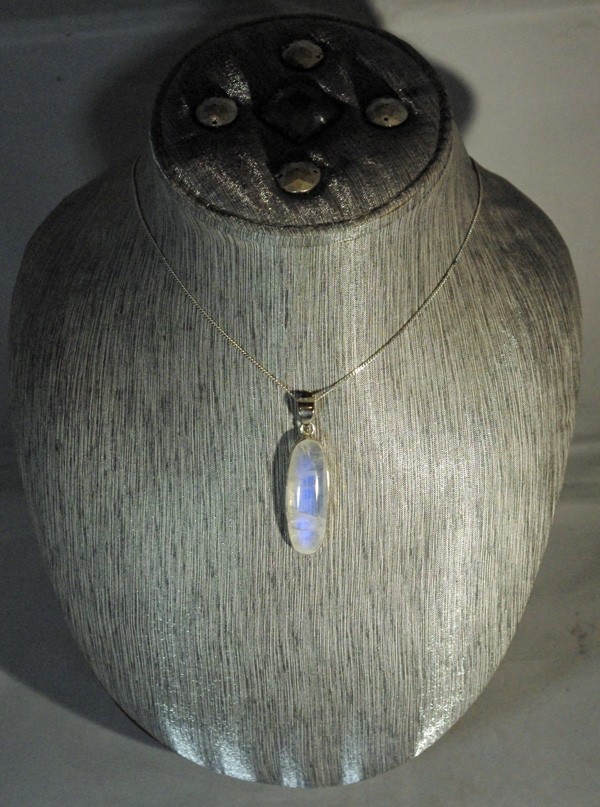 Moonstone Long Oval Pendant.