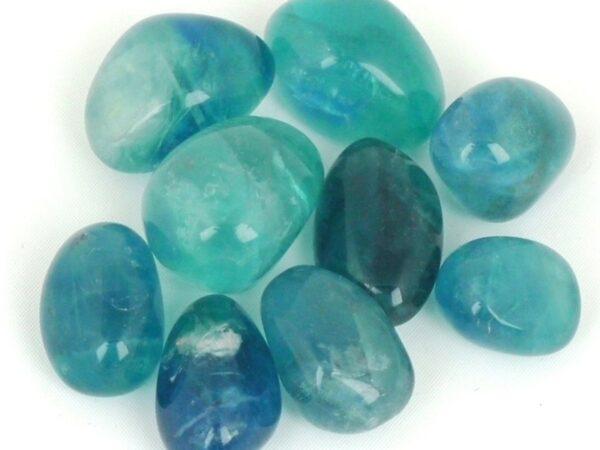 Blue Fluorite Tumble Stones