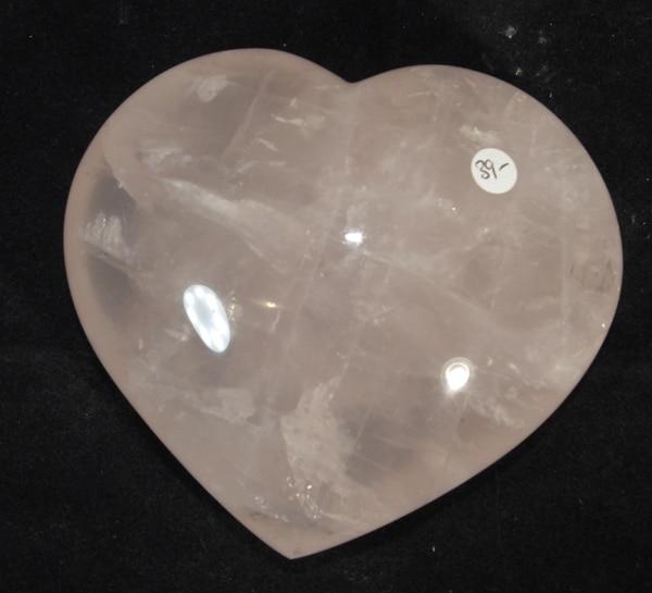 large Rose Quartz Heart